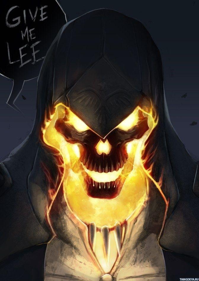опять картинки на скайп черепа оружие