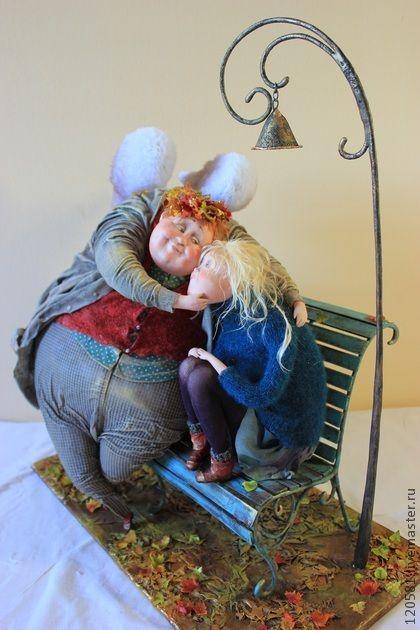 """Коллекционные куклы ручной работы. Ярмарка Мастеров - ручная работа авторская кукла """"Осенний вечерок"""". Handmade."""