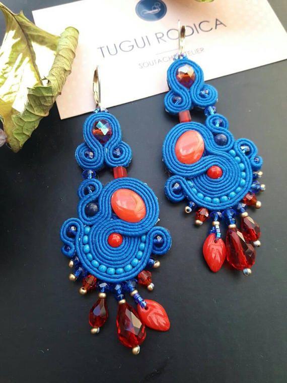 958 best cercei soutache images on Pinterest | Beads, Handmade ...