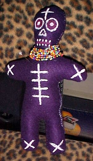 Hoodoo Magick Rootwork:  Day of the Dead #Voodoo Doll, by Gretchen Miller of Dolls of Travesty.