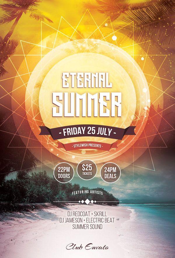Eternal Summer Flyer by styleWish (Buy PSD file - $9) #design
