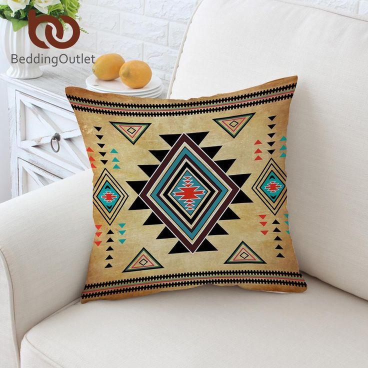 Geometric Cushion Cover Aztec Decor Pillows   patchwork & quilt ...