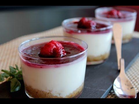 Tarta de queso de cabra (sin lactosa) en vasitos / Goat cheese cake (lactose-free) - YouTube