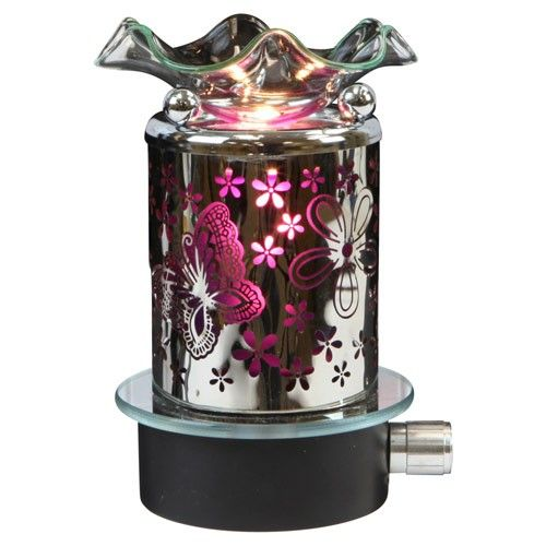 Beautiful Glass Plug In Warmer Night Light Use W Scentsy