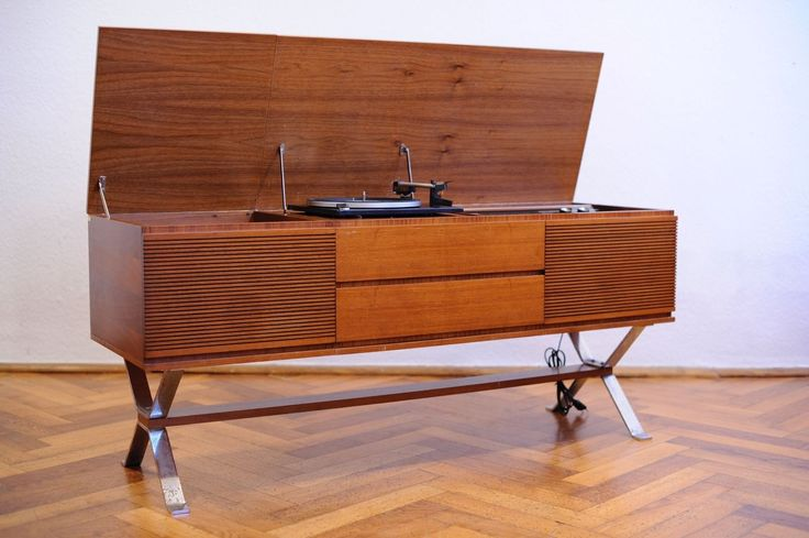 Serviced 60s Vintage Blaupunkt PE 720 Turntable Record Player Radio Walnut Wood | eBay