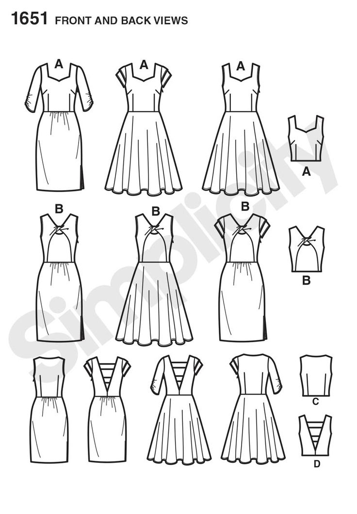 Simplicity 1651 | Purls and Pleats, lots of options