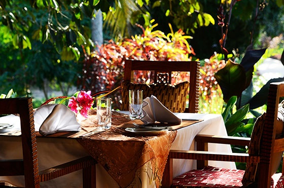exclusive, open-air restaurant in ZanziResort
