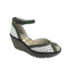 Fly London Ydel Platform Wedge - White Multi #Sale #Shoes