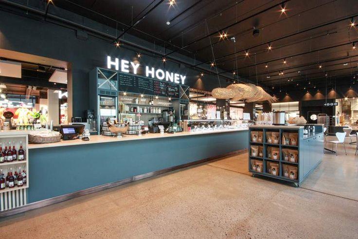 Hey Honey Aalgaard is a unique coffeebar near Stavanger, Norway.   Hamran Kitchen. Extraordinary kitchens from Norway. Kitchen inspiration. Scandinavian design. Massive birch worktop. Lacquered mdf cabinets in a beautiful blue color.