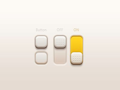 Dribbble - Buttons And Switches(PSD) by MVBen