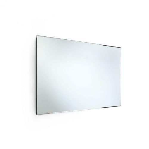 "WS Bath Collections Speci 5662 23-1/2"" x 39-1/2"" Rectangular Wall Mounted Frameless Beveled Mirror, Silver stainless steel"