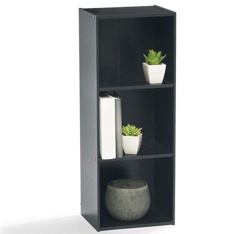 3 Tier Black Bookshelf