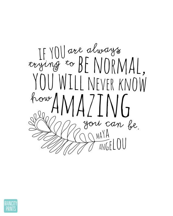 Maya Angelou How Amazing You Can Be by raincityprints on Etsy