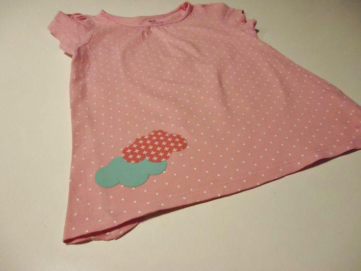 DIY wolkjes opstrijken op t-shirt