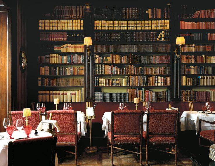 Studio Peregalli ~ Giacomo Bistrot's paneling was repurposed from a 19th century jeweler's.