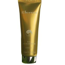 Elemis Tan Accelerator SPF6 - Prepare the body for exposure to the sun and maximize your tan by stimulating its natural melanin production.    This tanning accelerator is made of Fragrant Tahitian Gardenia and Jojoba Oil which leave the skin beautifully conditioned. Excellent for sun-sensitive skins.