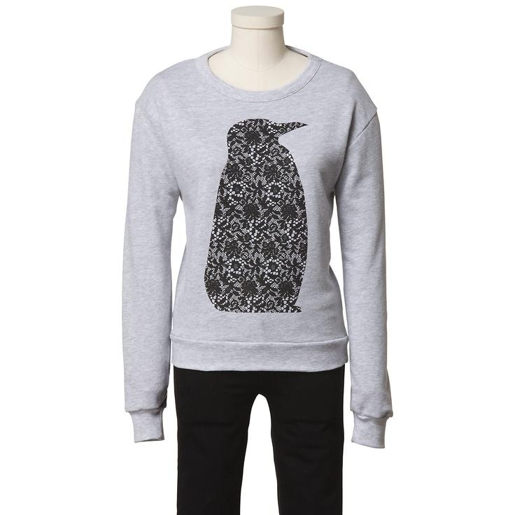 Tibi Fiona Lace Penguin Sweatshirt - eBay Holiday Collective