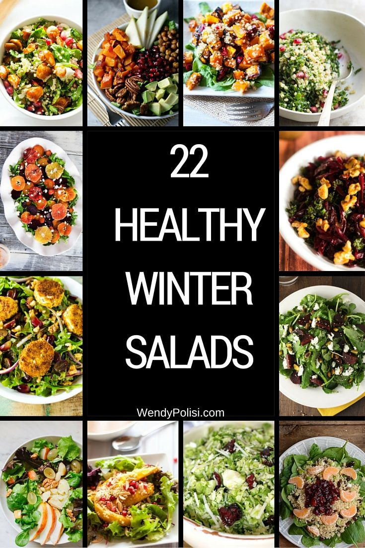 22 Healthy Winter Salads - These healthy winter salads will help you stay on track with your health goals without feeling deprived.