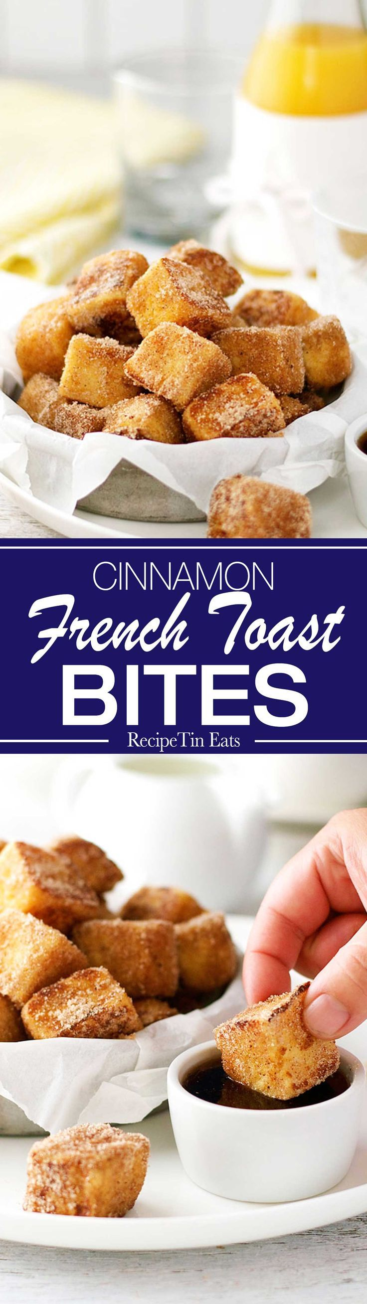 Love these! Fun and super fast to make a whole pan of them in one go. They taste like cinnamon doughnuts!