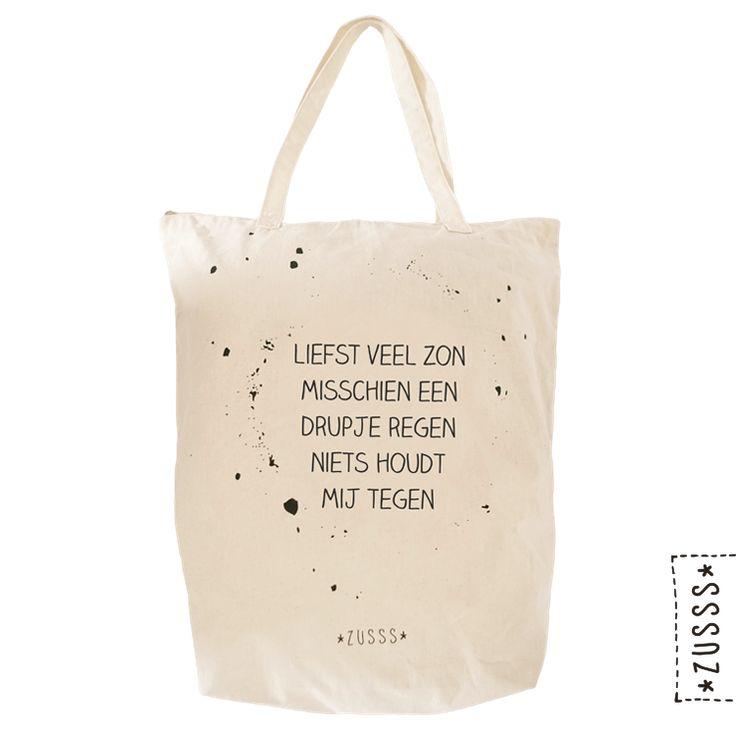 Zusss   Boodschappentas katoen spetter   http://www.zusss.nl/product/zusss-boodschappentas-katoen-spetter/