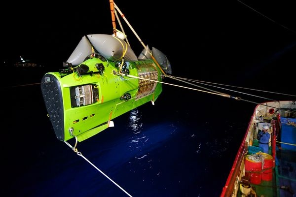 James Cameron Now At Ocean's Deepest Point.