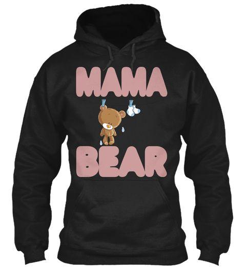 Best Mama Bear  Shirt Black Sweatshirt Front
