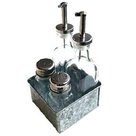 Set för olja, vinäger, salt