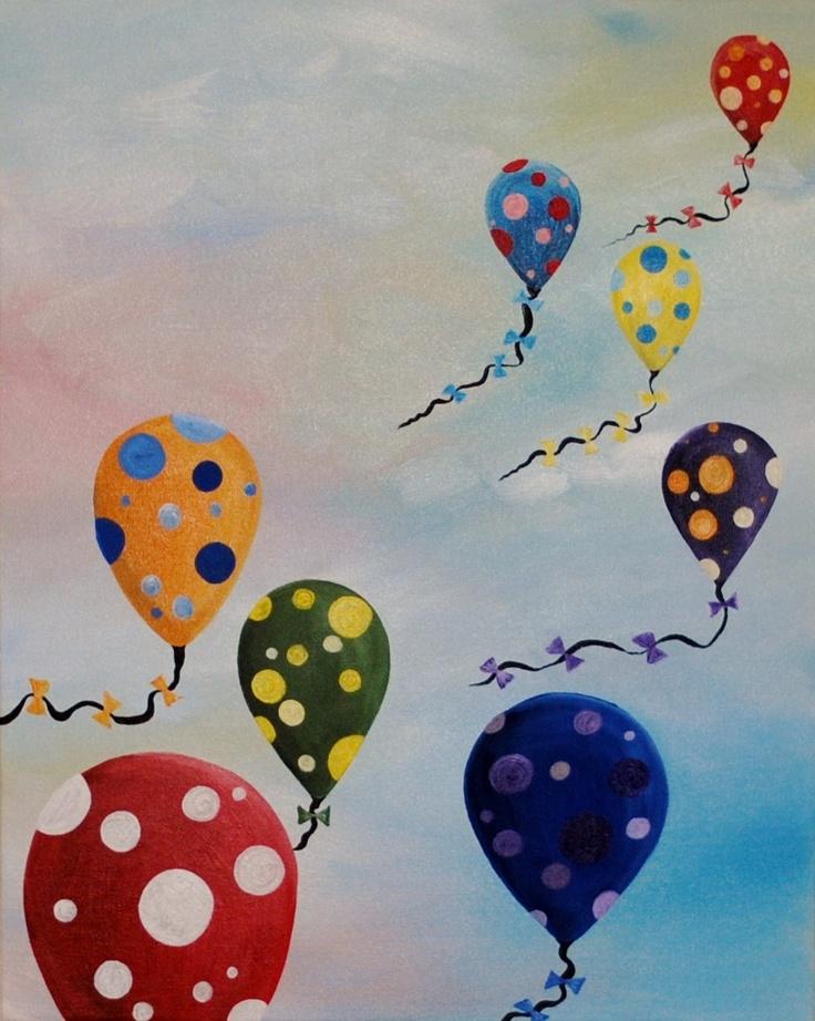 Polka Dot Ballons flying in the sky. $95.00, via Etsy.