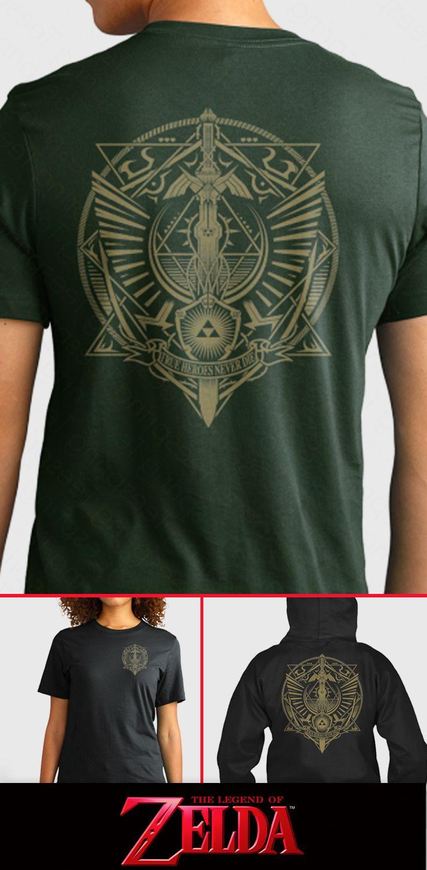 "Double sided Legend of Zelda shirt! I LOVE it! ""TRUE HEROES NEVER DIE"" .. NICE!"