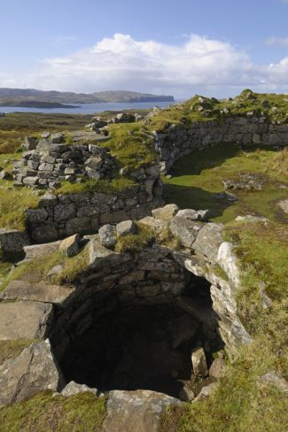 Ancient Iron Age Broch of Dun Beag, Struan, Isle of Skye, Inner Hebrides, Scotland, United Kingdom