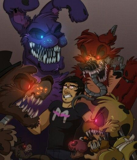 Nightmare Animatronics And Markiplier!