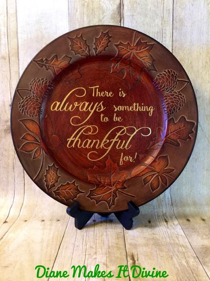 A personal favorite from my Etsy shop https://www.etsy.com/listing/255120540/thanksgiving-charger-plate-fall-decor