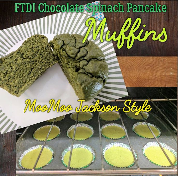 Chocolate Spinach Protein Muffins (FTDI) MooMoo Jackson Style