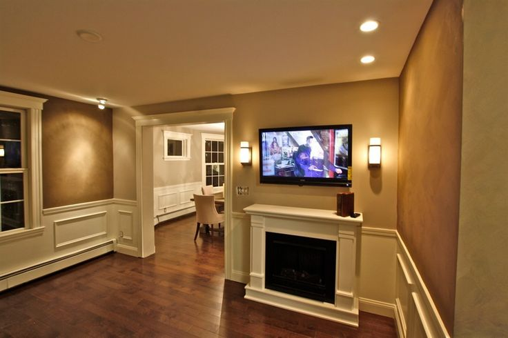 Sconces Living Room Living room | Wall mounted TV | Pinterest ...