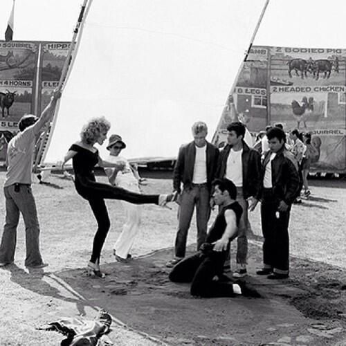 """@MakingOfs: Behind the scenes with Olivia Newton-John & John Travolta in Grease (1978) """