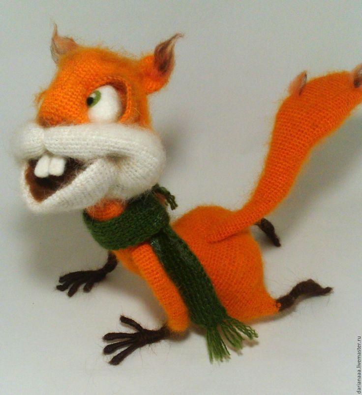 Купить Я пришла... твоя БЕЛОЧКА))) - рыжий, белочка, игрушка ручной работы, вязаная игрушка