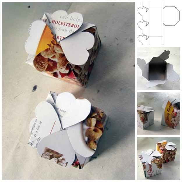 So many cool ideas for projects made out of cereal boxes!