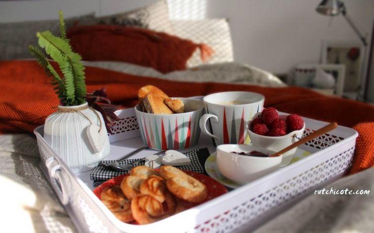 Un desayuno romántico en la cama