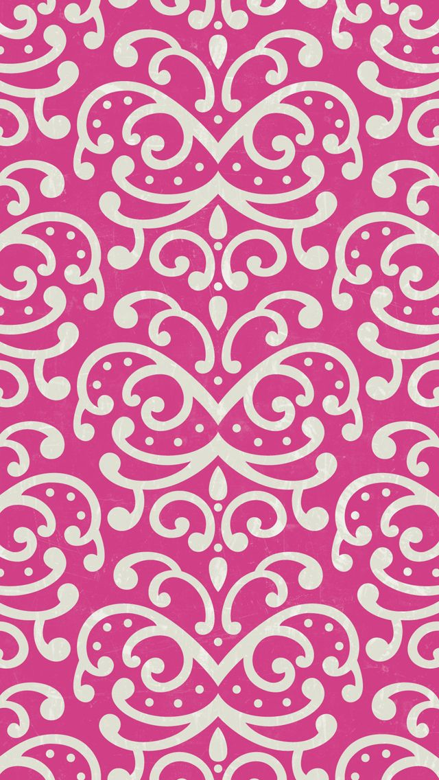 iphone 5 wallpaper - #pink #damask #pattern