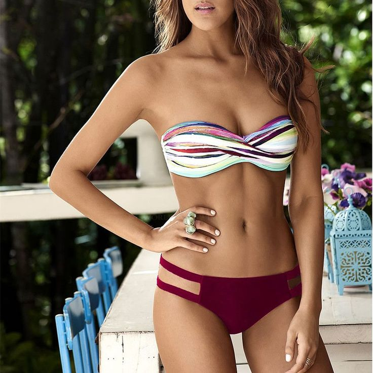 Women's Sexy Print Bikini Set Swimsuit Swimwear