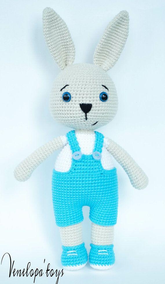 Crochet Pattern Bunny Daddy от VenelopaTOYS на Etsy