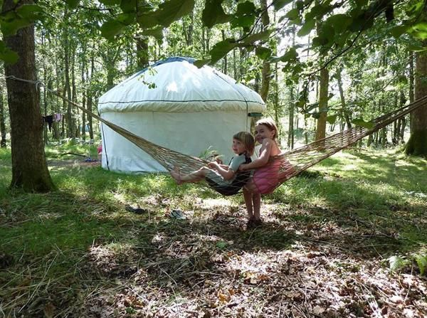 My dream life - me and Danny, living in a forest in a yurt with our two kids (and a hammock, of course.)