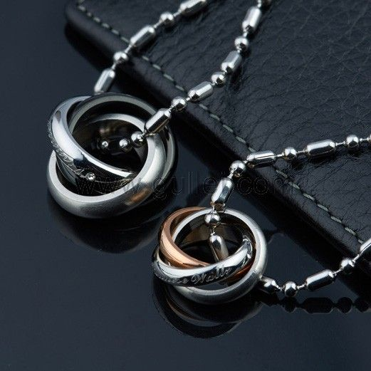 Matching pendants girlfriend boyfriend set for 2 couples for Couples matching jewelry sets