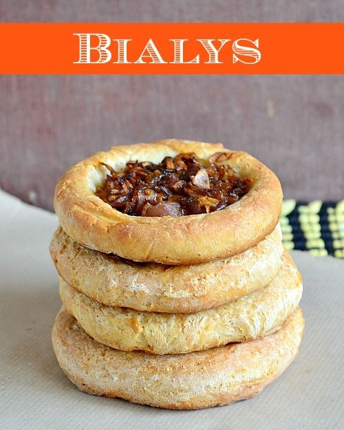 [ Recipe: New York Style Bialys Topped with Caramelized Onions ] Dough made with: all-purpose flour, active dry yeast, sugar, salt, water, milk, oil, and whole wheat flour. Onion filling made with: onions, cumin seeds, red chili powder, chaat masala powder, and salt to taste. ~ from Tickling Palates