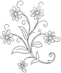 Guía par bordar flores
