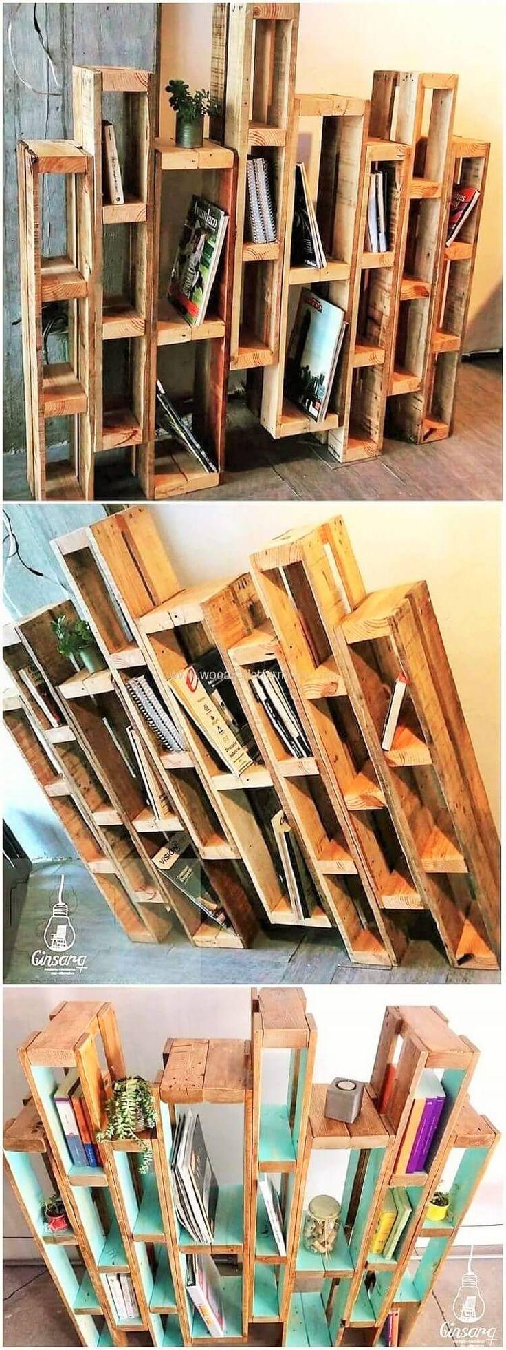 Aus Holz gefertigte Gegenstände zum Ausprobieren aus Palettenholz