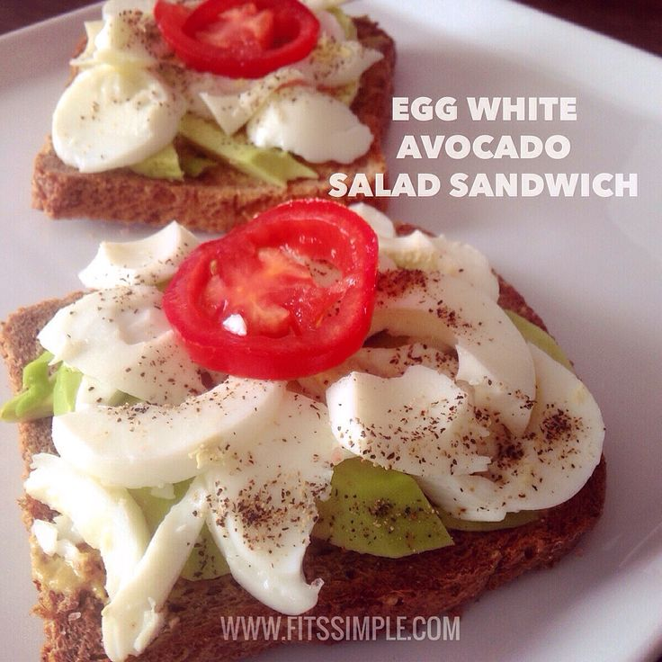 Egg White Avocado Salad Sandwich | Recipe | Green, Green eggs and ...