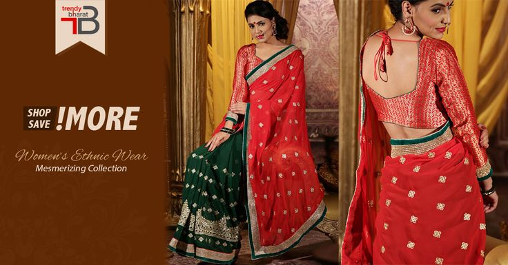 Nothing compliments Indian women as good as a six yard saree, which also guarantees an innate grace and elegance. Make new fashion waves with this ethnic wear. Buy now and save upto  20% off. #womensfashion #sarees #designersarees #ethnicsarees #redlove