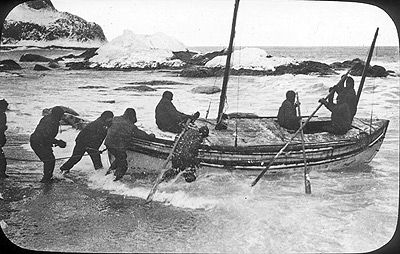 The launching of the James Caird