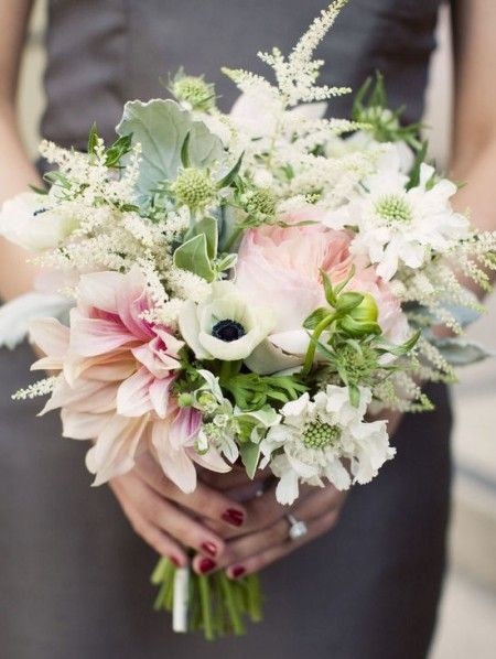 Flowers: Anemone/ White (feathery)Astilbe/ English Rose ...